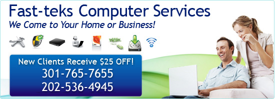 Fast-teks Computer Services.  We Come to Your Home or Business!
